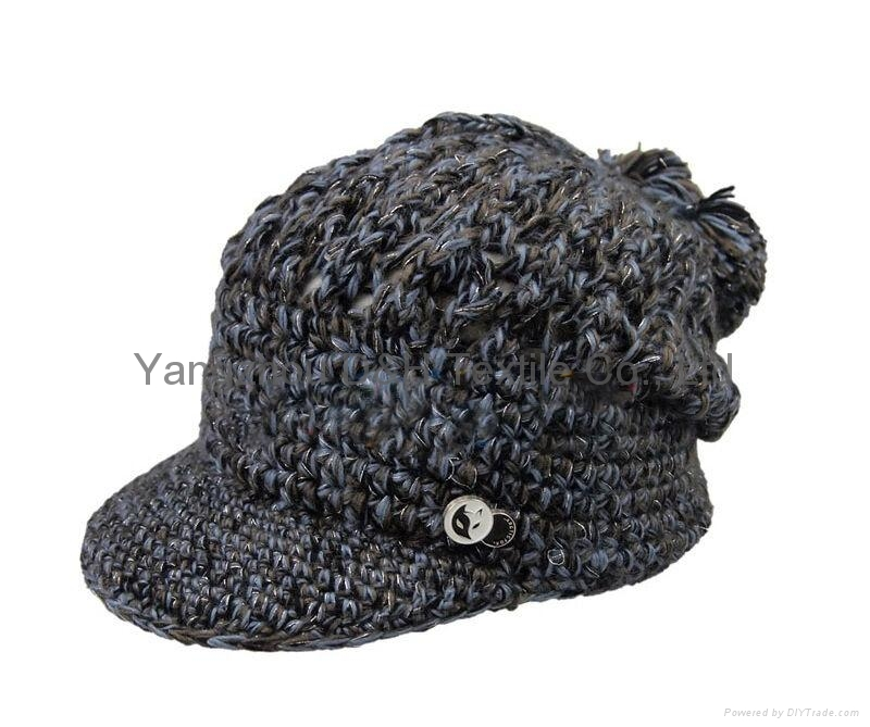 Fashion handwork knitted cap/Reversible Knitted Hat 2