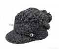 Fashion handwork knitted Reversible Knitted Hat 2