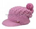 Fashion handwork knitted cap/Reversible