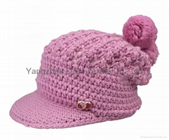 Fashion handwork knitted Reversible Knitted Hat