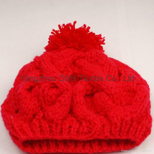 Crochet knitted hat with good quality 1