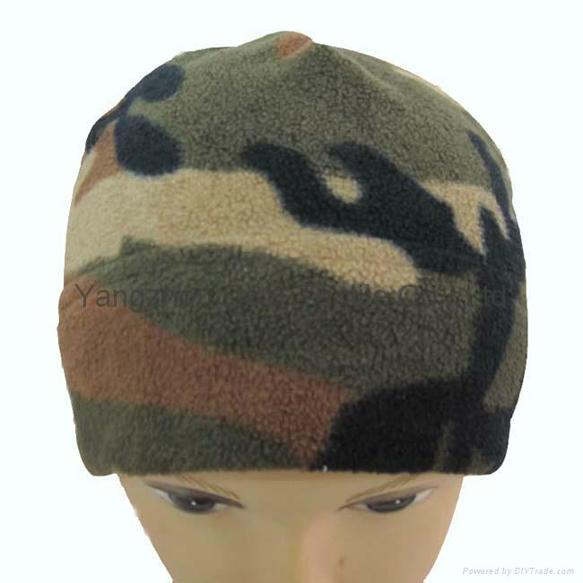 Camouflage polar fleece Winter Cloak Warm Earflap Hats  2