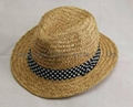 Wide brimmed Straw Gorros Hat  With Printing Band