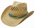 Raffia Straw Surf Hat Men  dress  Cowboy Straw borsalino hats