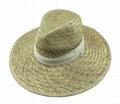 Cowboy stetson Straw sun  boater hat