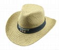 mens dress Wholesale panama Straw Hat with Rubber logo and printing brim 4