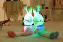 Lovely Stuffed Plush Toy with LED Lights-- Cute Pink Rabbit Animal Toy