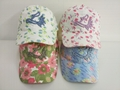 Curved Washed cotton sun summer USA fashion website flower Cap