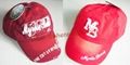 Red Washed  america Cotton  cap