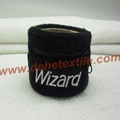 Custom Zipper Sport Cotton Sweat Wristbands with pocket
