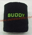 Fashion Multicolor Wrister Support Terry Cloth Wristband with Embroidery