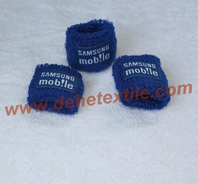 [Min.100 pieces]Custom Embroidery sport terry 2.5 inch wristband