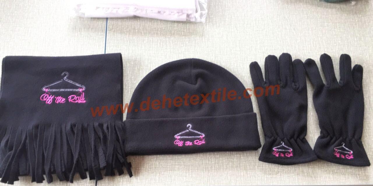 Hot Polar Fleece Sets/Hat/Gloves/Scarf 1