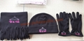 Hot Polar Fleece Sets/Hat/Gloves/Scarf
