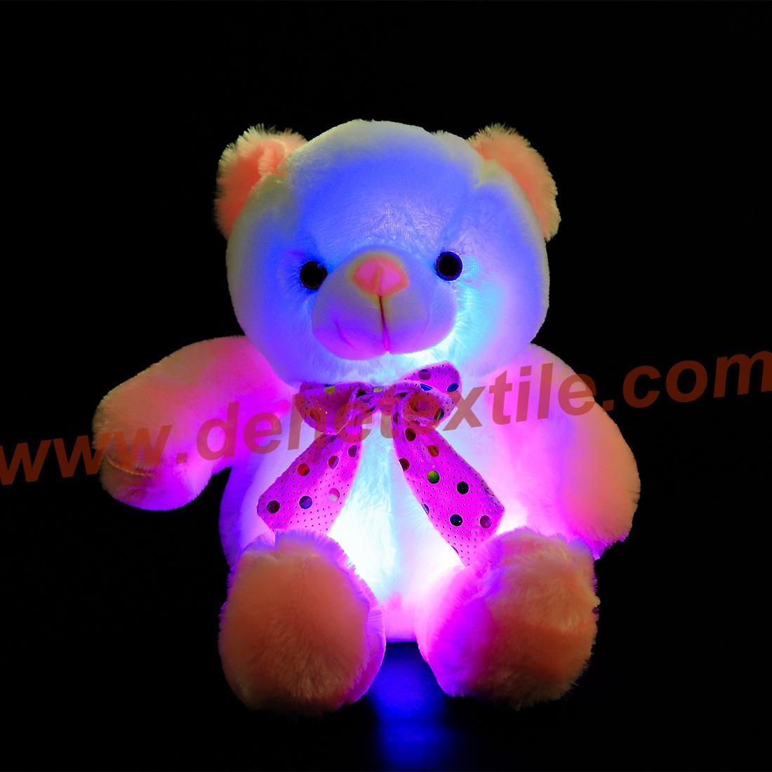 New Style LED Inductive Teddy Bear Stuffed Animals Plush Toy  3