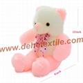 New Style LED Inductive Teddy Bear Stuffed Animals Plush Toy  5