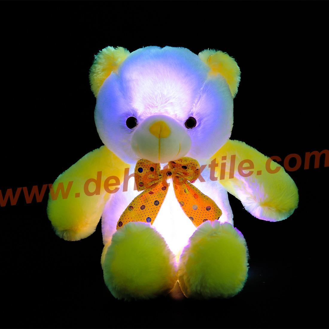 New Style LED Inductive Teddy Bear Stuffed Animals Plush Toy  6