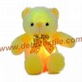 New Style LED Inductive Teddy Bear Stuffed Animals Plush Toy  8
