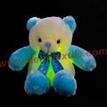 New Style LED Inductive Teddy Bear Stuffed Animals Plush Toy  9