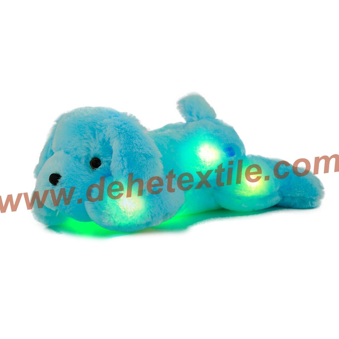Creative Night Light LED Stuffed Animals Dog Glow Plush Toys Gifts for Kid 6