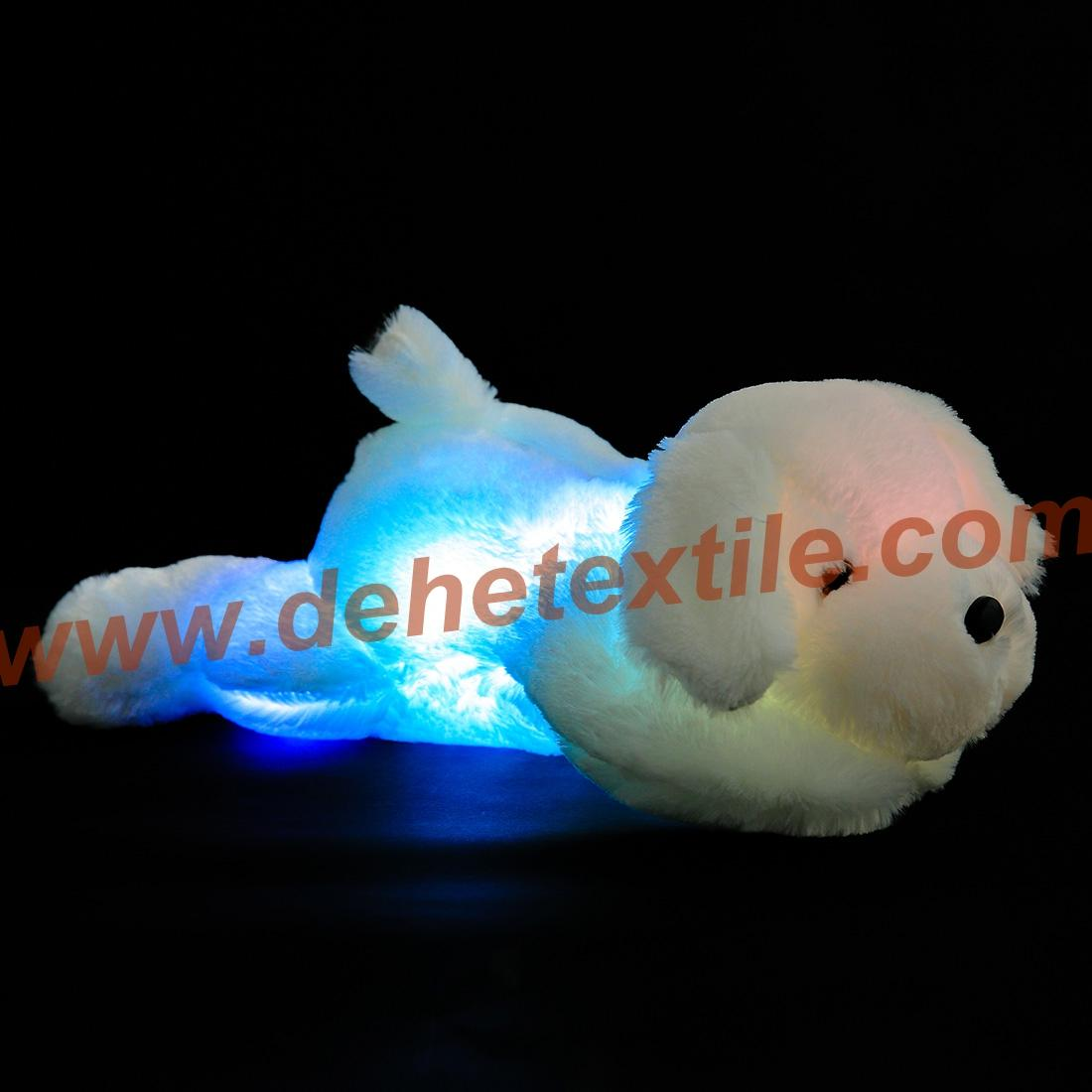 Creative Night Light LED Stuffed Animals Dog Glow Plush Toys Gifts for Kid 7