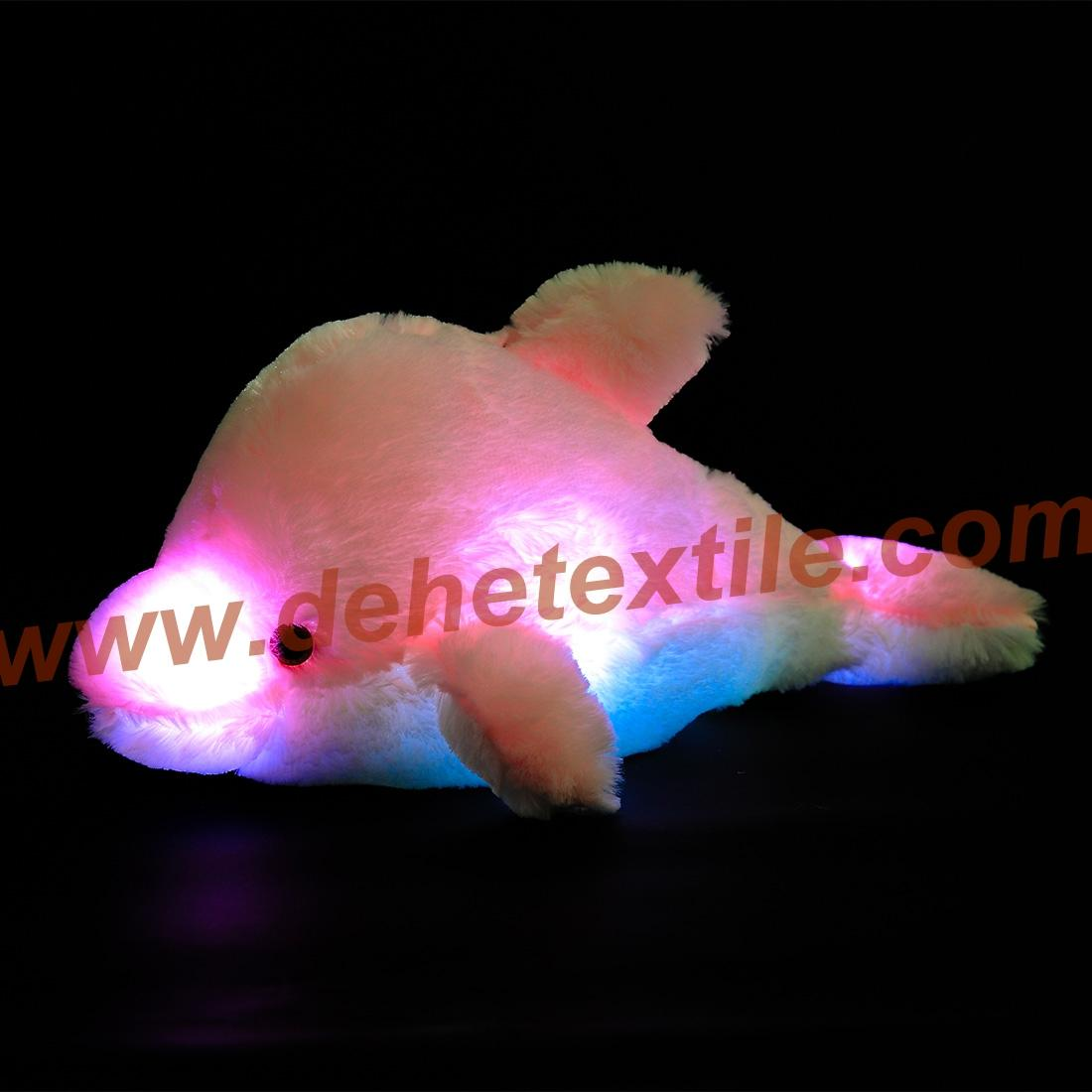 Creative Colorful LED Light Stuffed Animal Toy Glowing Dolphin Plush Toys 6