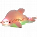 Creative Colorful LED Light Stuffed Animal Toy Glowing Dolphin Plush Toys 7