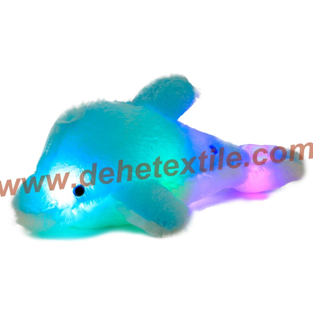 Creative Colorful LED Light Stuffed Animal Toy Glowing Dolphin Plush Toys 9