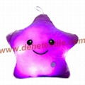 Blue Glowing Colorful Luminous LED Lucky Star Plush Pillow Stuffed Toys 3