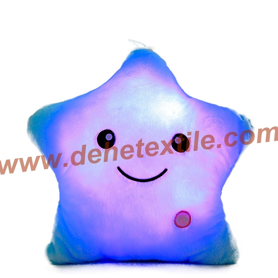 Blue Glowing Colorful Luminous LED Lucky Star Plush Pillow Stuffed Toys 6