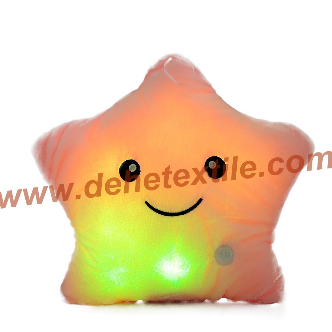 Blue Glowing Colorful Luminous LED Lucky Star Plush Pillow Stuffed Toys 8
