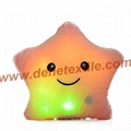 Blue Glowing Colorful Luminous LED Lucky Star Plush Pillow Stuffed Toys