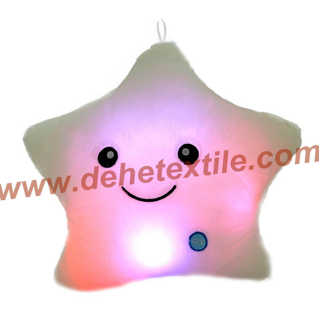 Blue Glowing Colorful Luminous LED Lucky Star Plush Pillow Stuffed Toys 10