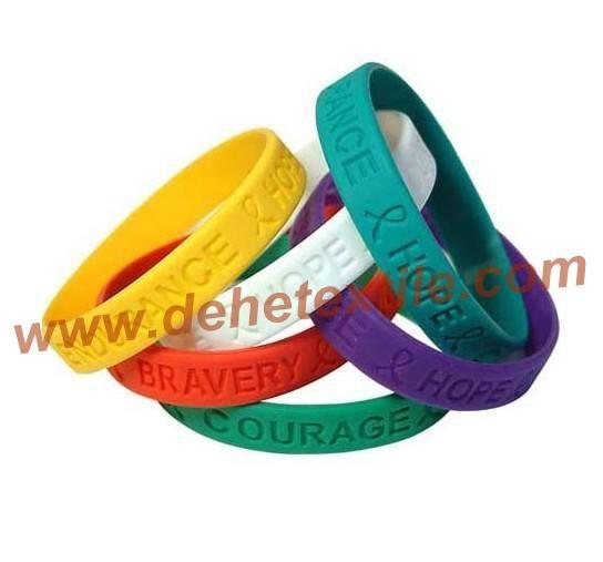 Silicone Banding Customized Silicone Bracelet Wristbands     3