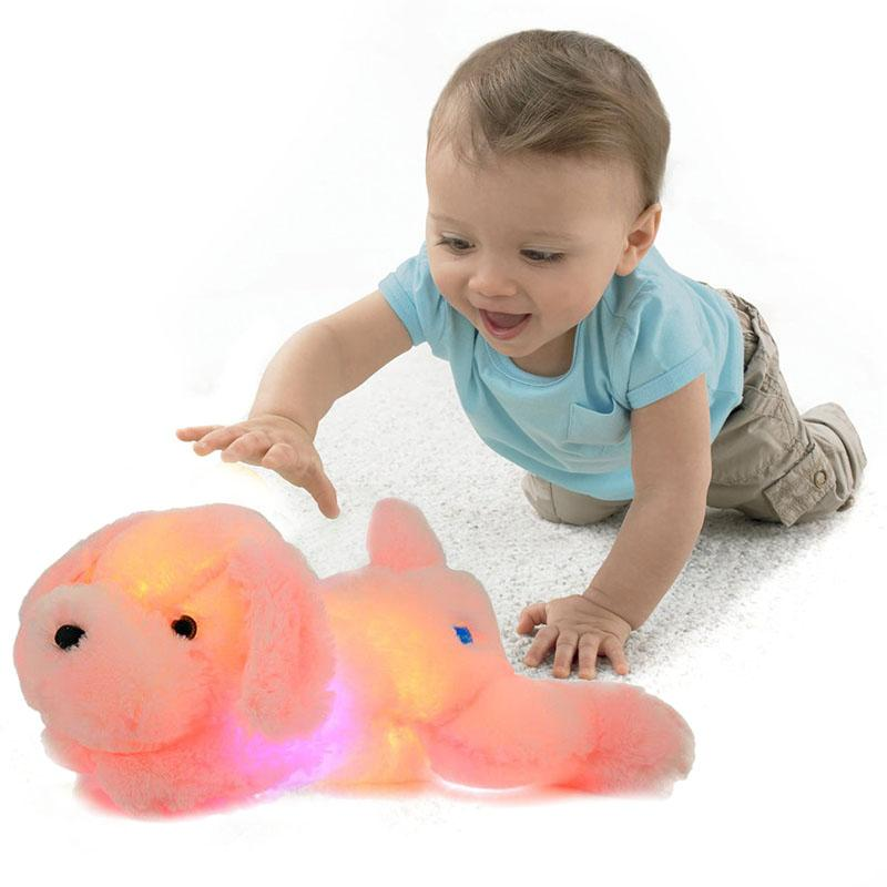Creative Night Light LED Stuffed Animals Dog Glow Plush Toys Gifts for Kid 1