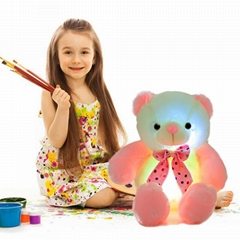 New Style LED Inductive Teddy Bear Stuffed Animals Plush Toy