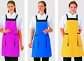 Nice Princess Style kitchen apron with heart shape pocket Garden Apron