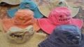 Beach Pigment Wash Wide Brim Florida Beach Hat 1