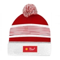 Fashion Shell Knitted Hat with woven label logo 2