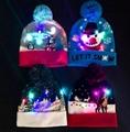 Christmas Custom Led Knitted Hat/ Led Beanie Hat/ Led Winter Gorros Hat 1