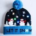Christmas Custom Led Knitted Hat/ Led Beanie Hat/ Led Winter Gorros Hat