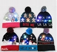 Christmas Custom Led Knitted Hat/ Led Beanie Hat/ Led Winter Gorros Hat