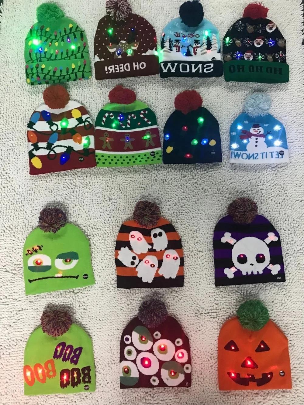 Holiday Custom Led Knitted Hat/ Led Beanie Hat/ Led Winter Gorros Hat 1