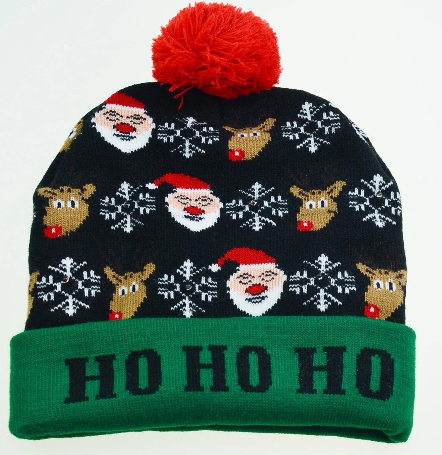 Holiday Custom Led Knitted Hat/ Led Beanie Hat/ Led Winter Gorros Hat 3