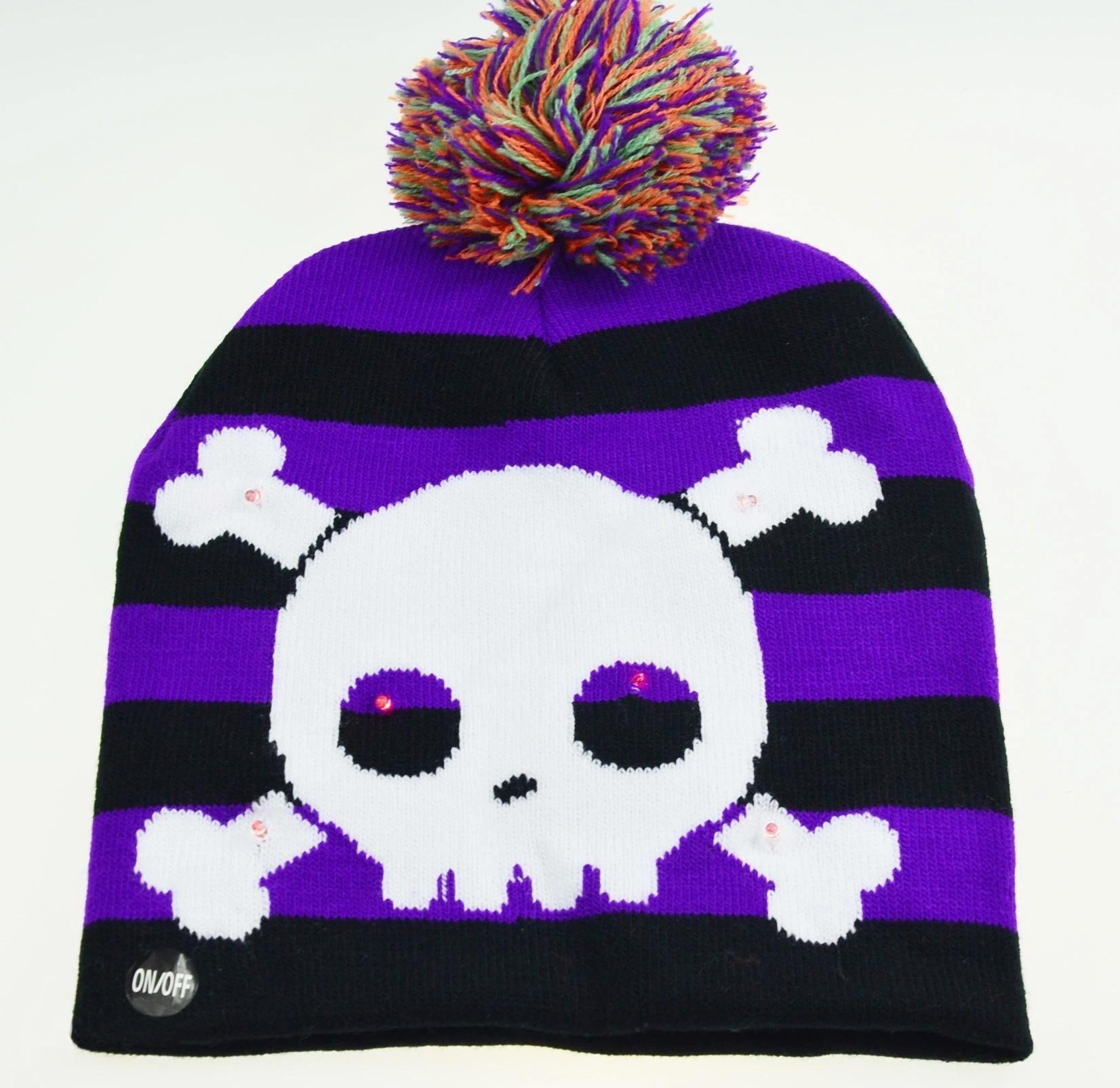 Holiday Custom Led Knitted Hat/ Led Beanie Hat/ Led Winter Gorros Hat 4