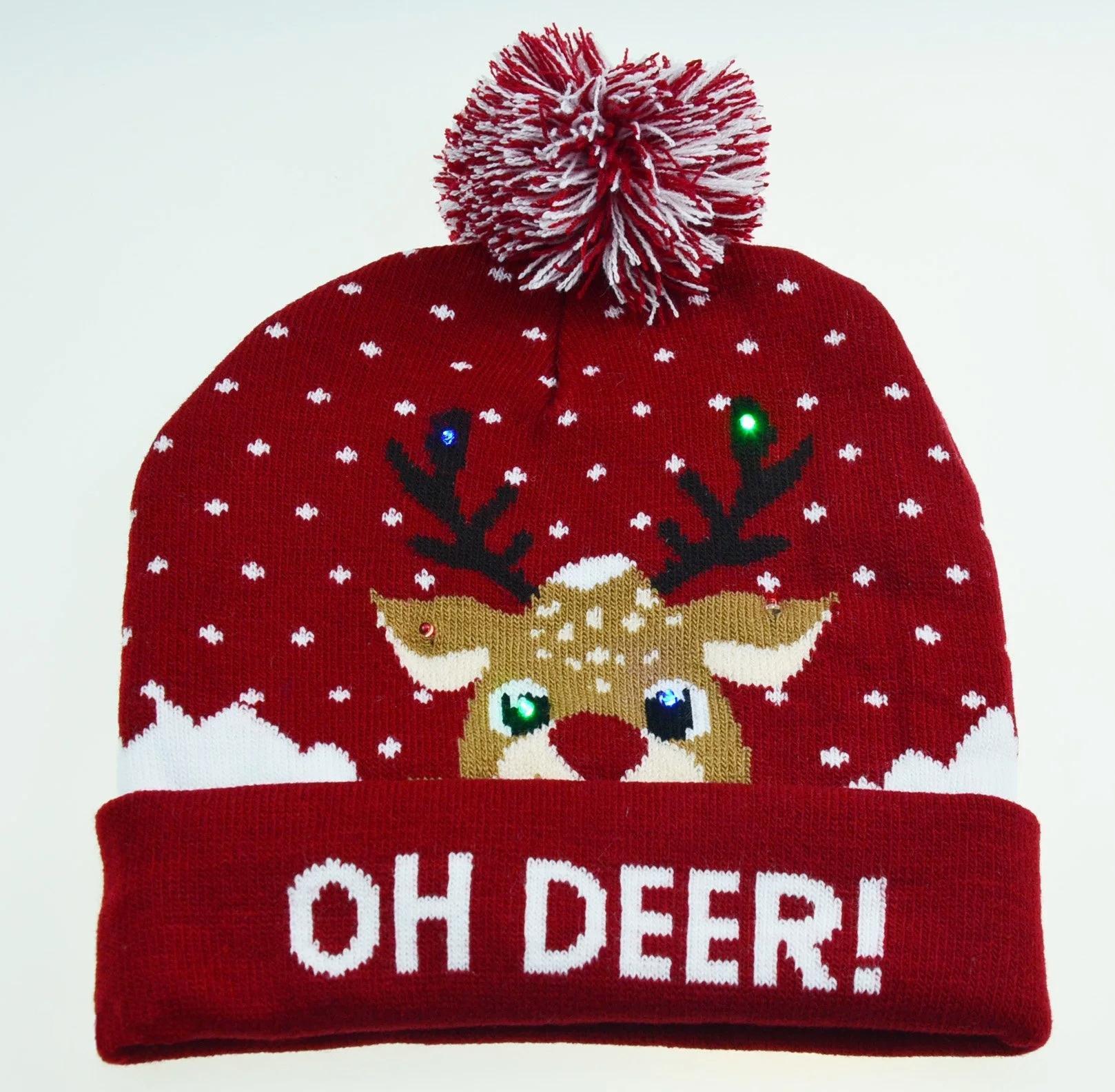 Holiday Custom Led Knitted Hat/ Led Beanie Hat/ Led Winter Gorros Hat 5