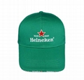 100%Cotton Embroidery Heineken Beer Promotion Sport Football  Caps