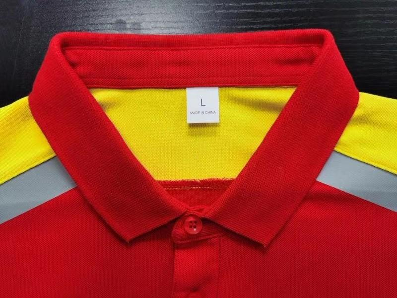 Cotton and Polyester Shell Polo Shirts 3