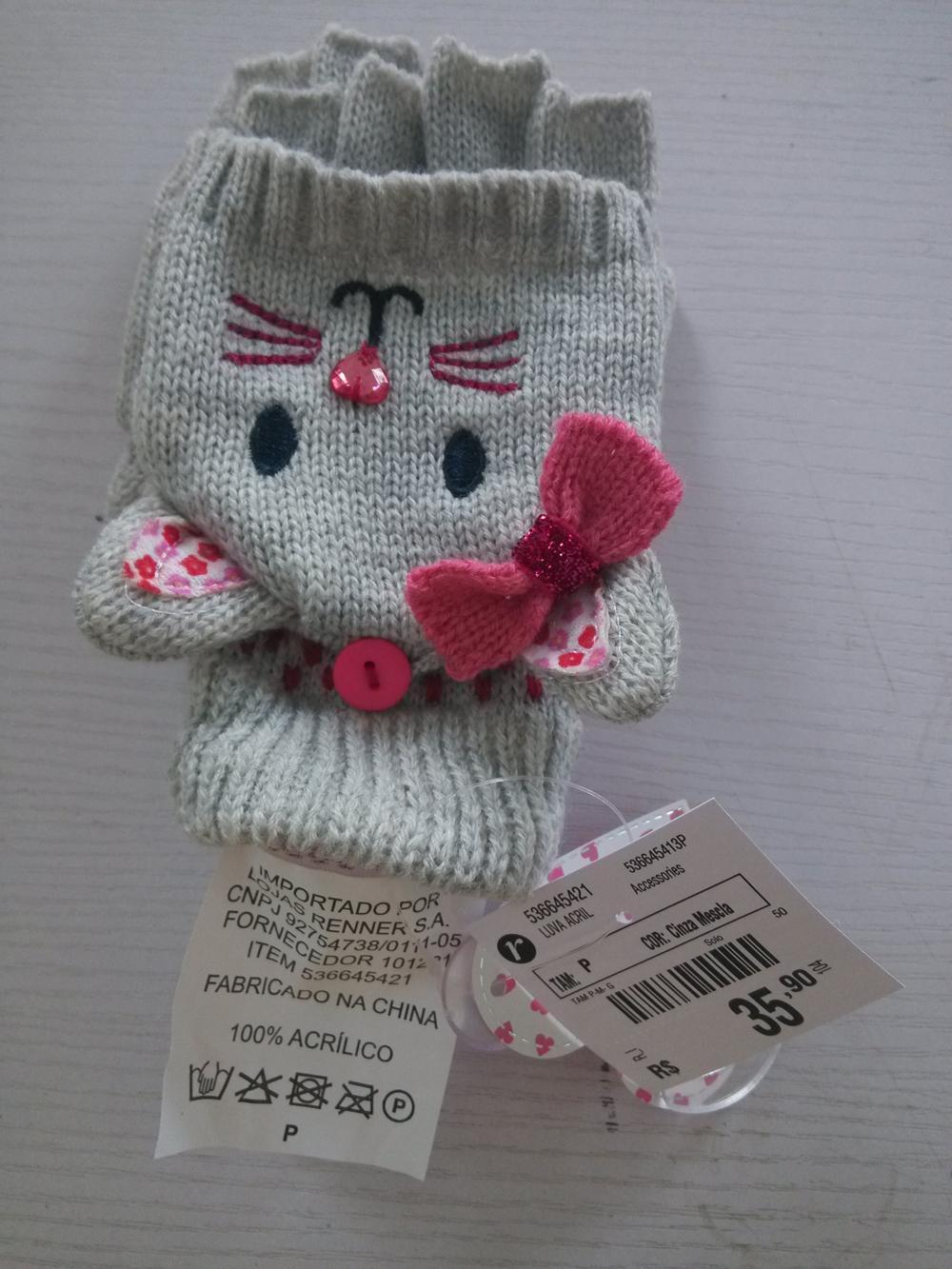 Cartoon Winter Knitted toboggan crochet Glove  2