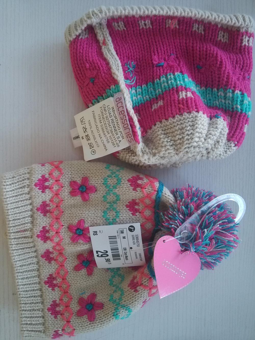 Cartoon Winter Knitted toboggan crochet Glove  3